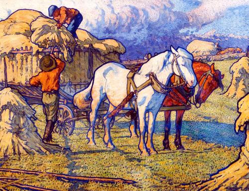 Hästarna kör in råg av Nils Kreuger