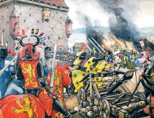Belägring av borg av Olle Hjortzberg